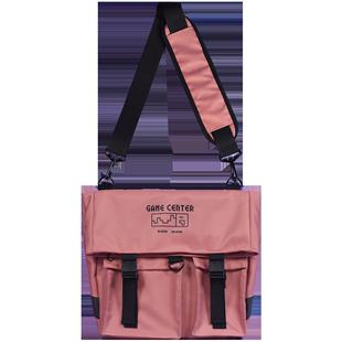 null原創書包雙肩包女揹包學生大容量郵差包小眾斜挎包多用工裝包