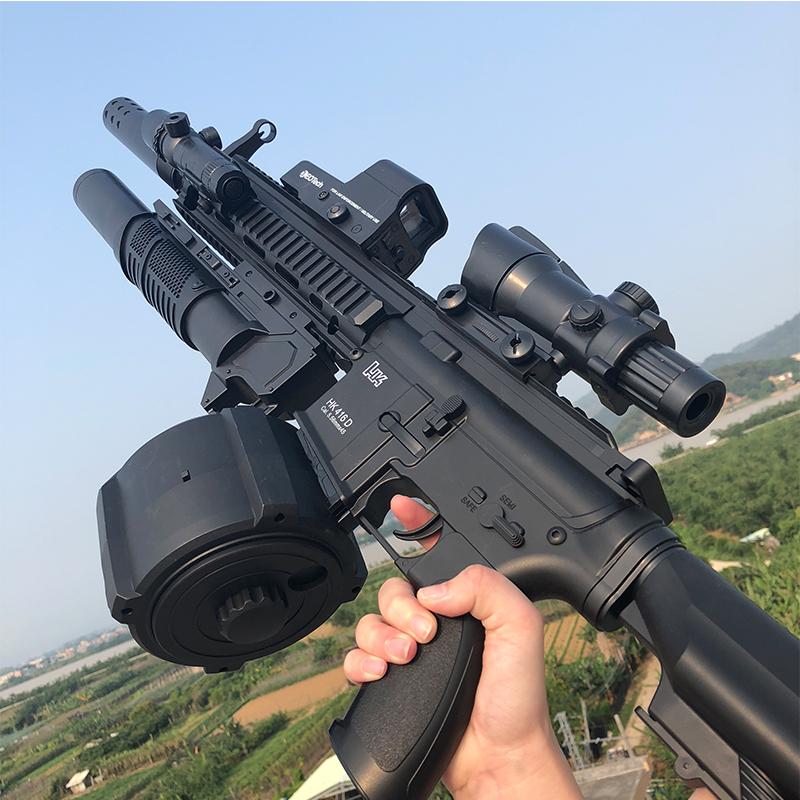 11月22日最新优惠手自一体水弹绝地求生吃鸡儿童玩具枪m416弹鼓电动连发突击步抢男