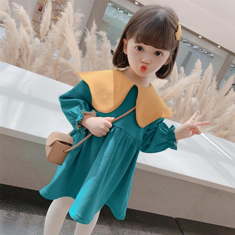 女童秋冬季连衣裙韩版洋气童装2020新款女孩加绒裙子宝宝冬装时髦