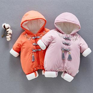 。婴儿羽绒棉服连体衣冬2020衣服宝宝哈衣女婴幼儿服饰品牌