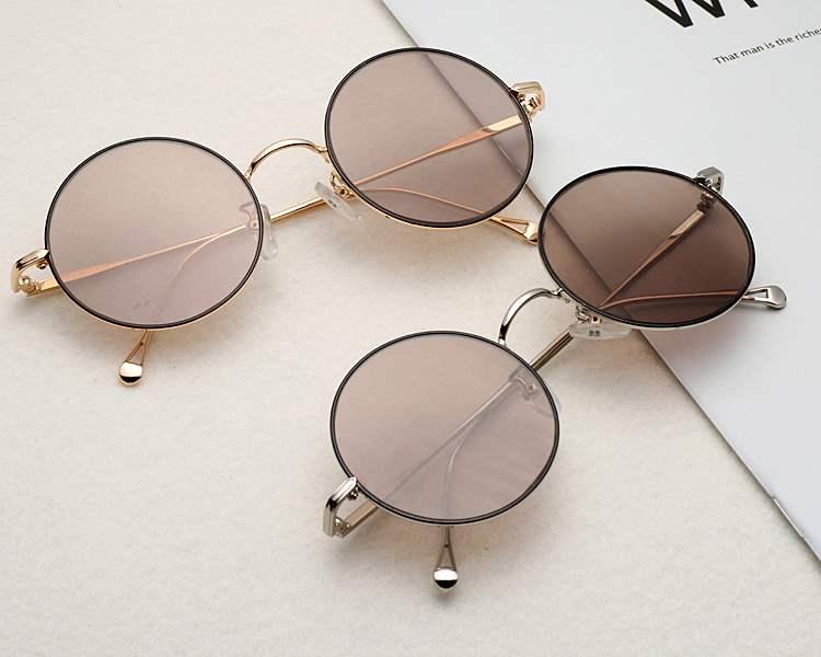 Genuine natural crystal glasses mens and womens stone glasses round crystal glasses Retro Tea crystal East China Sea Sunglasses Road