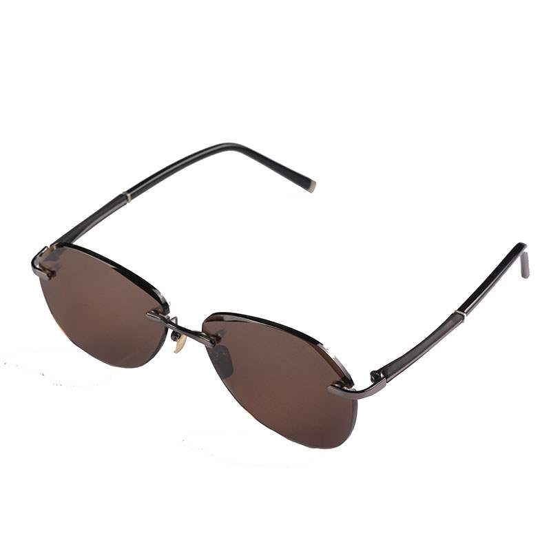Genuine natural crystal stone glasses frameless extra large Sunglasses polygonal high-grade male toad mirror flat