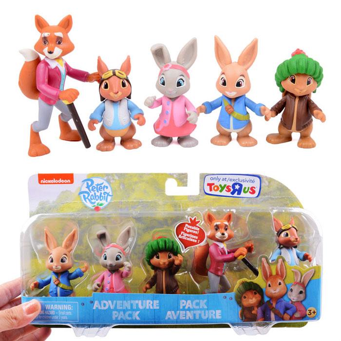 英国经典人气童话彼得兔和它的朋友儿童过家家塑料公仔玩具宝宝