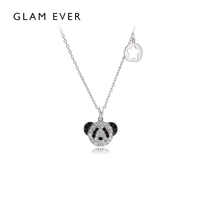 Glam ever panda Necklace small and versatile design creative cute funny sweet clavicle chain for girlfriend