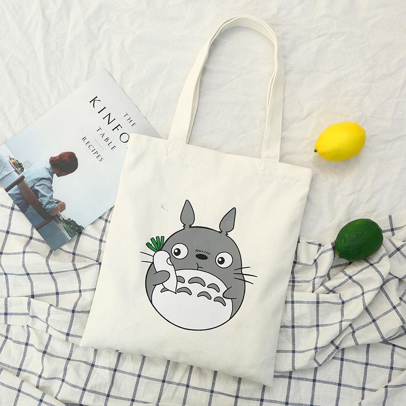 2018 new womens bag single shoulder portable womens canvas bag cute chinchilla print travel leisure shopping bag