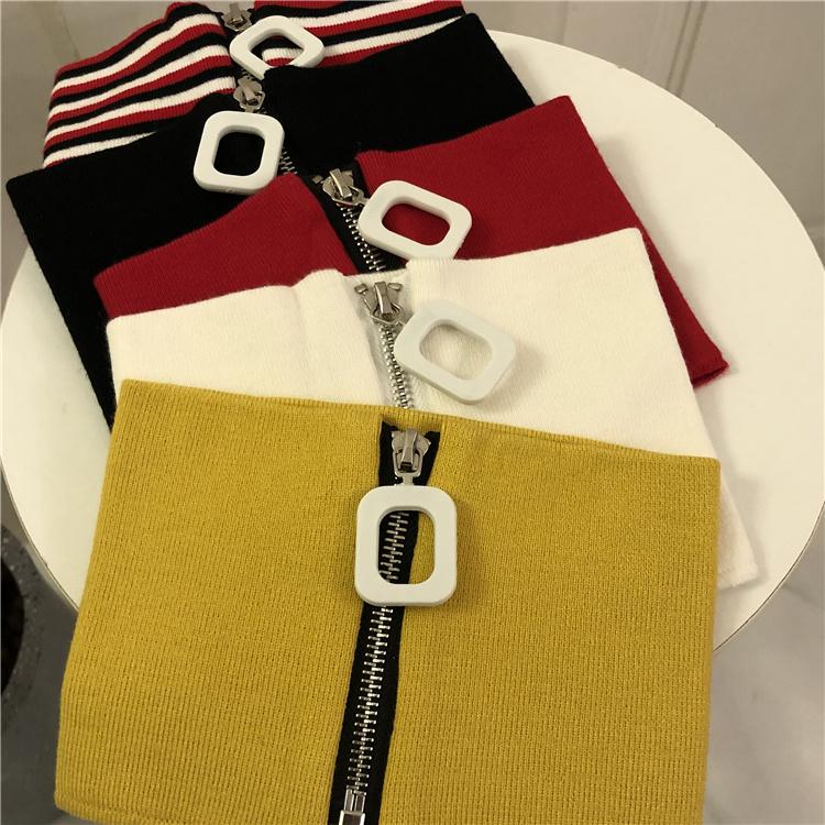 JW GDヒップホップは張若嘉呉も同じタイプの襟の編み手のスナップリングのファスナーで首と秋冬の綿の毛を巻きます。