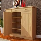 实木鞋柜阳台木质多层大容量简约现代中式门厅柜原木家用松木特价