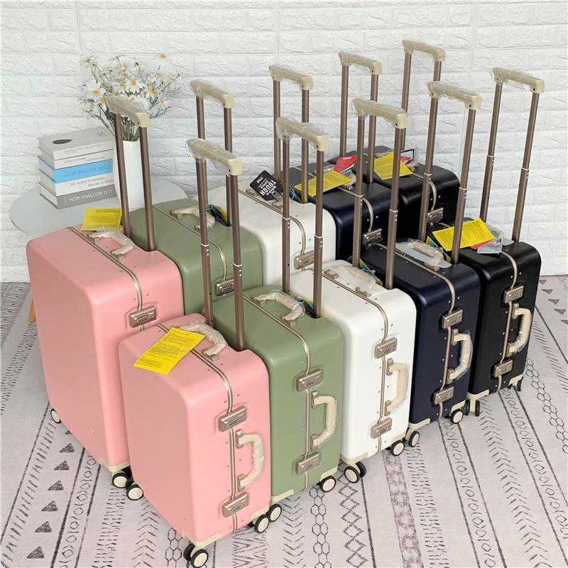 出口日本高端窄框唯美日系小清新风铝框箱拉杆箱旅行李箱密码箱子