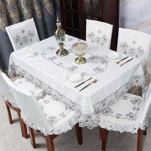 餐桌椅子套罩北欧风格现代简约轻奢家用加厚海绵餐桌餐椅套罩套装