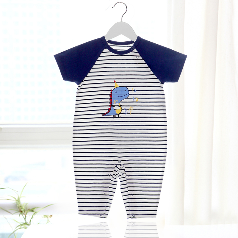 Babys one-piece clothes, summer clothes, short sleeves, trousers, climbing clothes, boys and girls going out clothes