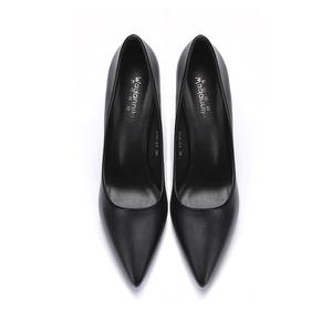 工作鞋女黑色高跟鞋细跟职业尖头百搭7cm正装5cm学生礼仪单鞋3cm