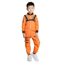 万圣节儿童服装航空衣服橙色太空服飞行员服饰消防员制服演出服