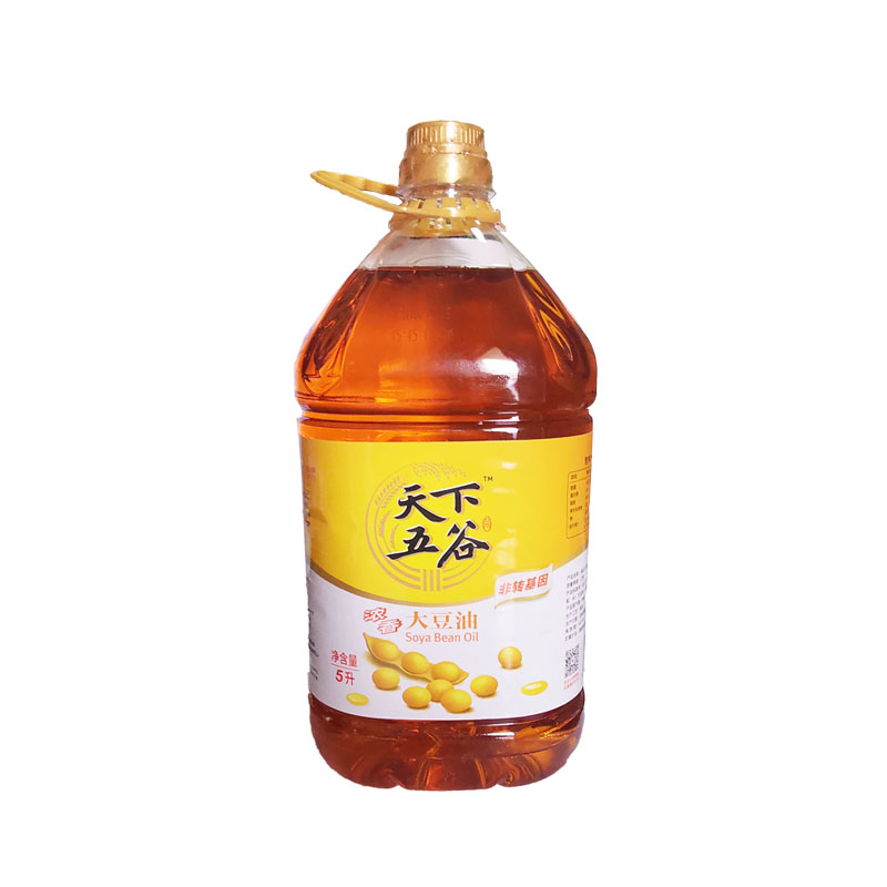 Tianxia Wugu non genetically modified Luzhou flavor soybean oil 5L salad oil barrel edible oil baking coloring package post catering