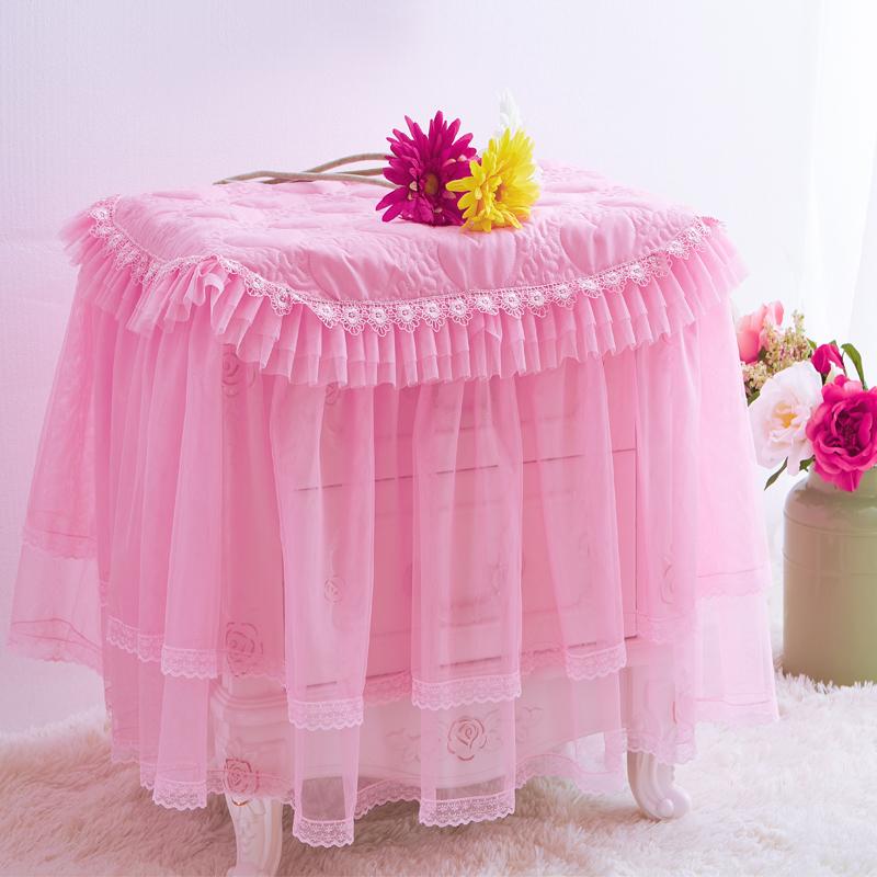 床头柜套罩盖布卧室蕾丝欧式布艺公主风现代简约防尘罩布布艺蕾丝