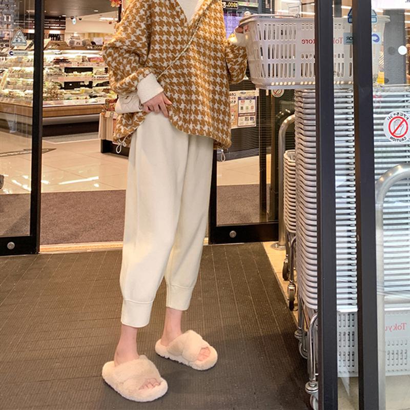 大码女装针织秋冬胖妹妹mm200斤适合胯大腿粗宽松显瘦奶奶裤子潮
