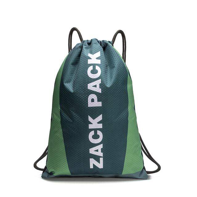 定制LOGO 运动抽绳背包防水牛津布广告包束口袋双肩书包 印字订做