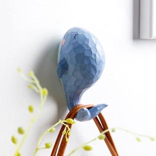 美式挂钩创意门口玄关钥匙架衣帽钩墙面壁挂装饰艺术个性鲸鱼墙壁