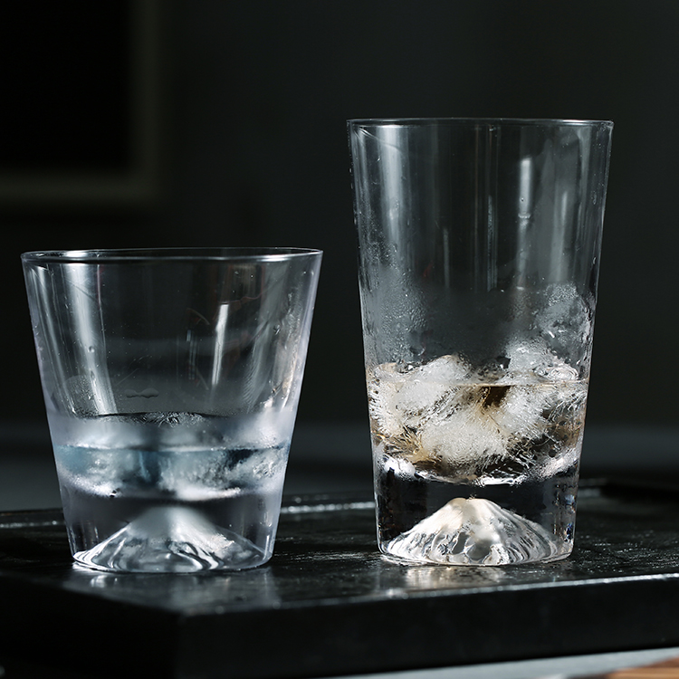 榜书城 富士山水杯玻璃杯男女家用套装耐热泡茶杯ins杯子随手杯