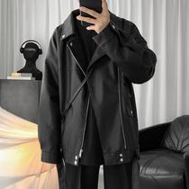 2020春季新款皮衣外套男士短款机车皮夹克韩版潮流学生帅气上衣服