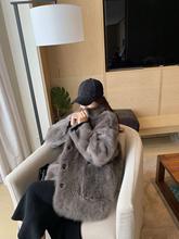 ASMANNA重磅托斯卡纳高级质感皮毛一体外套时髦皮草女秋冬