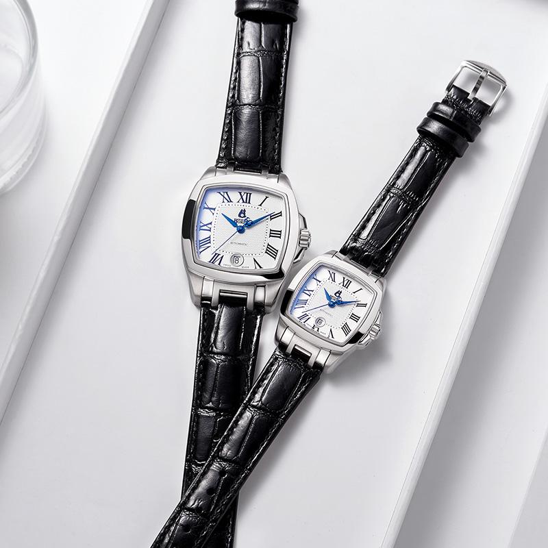 瑞士依波路名牌男士方形手表男机械表2019新款十大名表