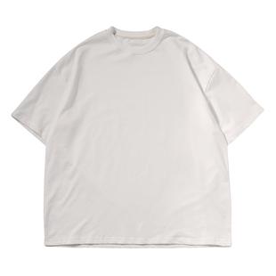 韓版純色基礎款百搭圓領純棉T恤衫潮人男女寬鬆BF簡約打底短袖tee