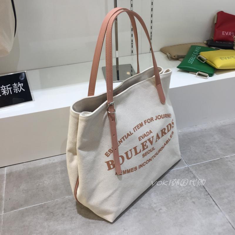 韩国东大门新款大号帆布包手提女包