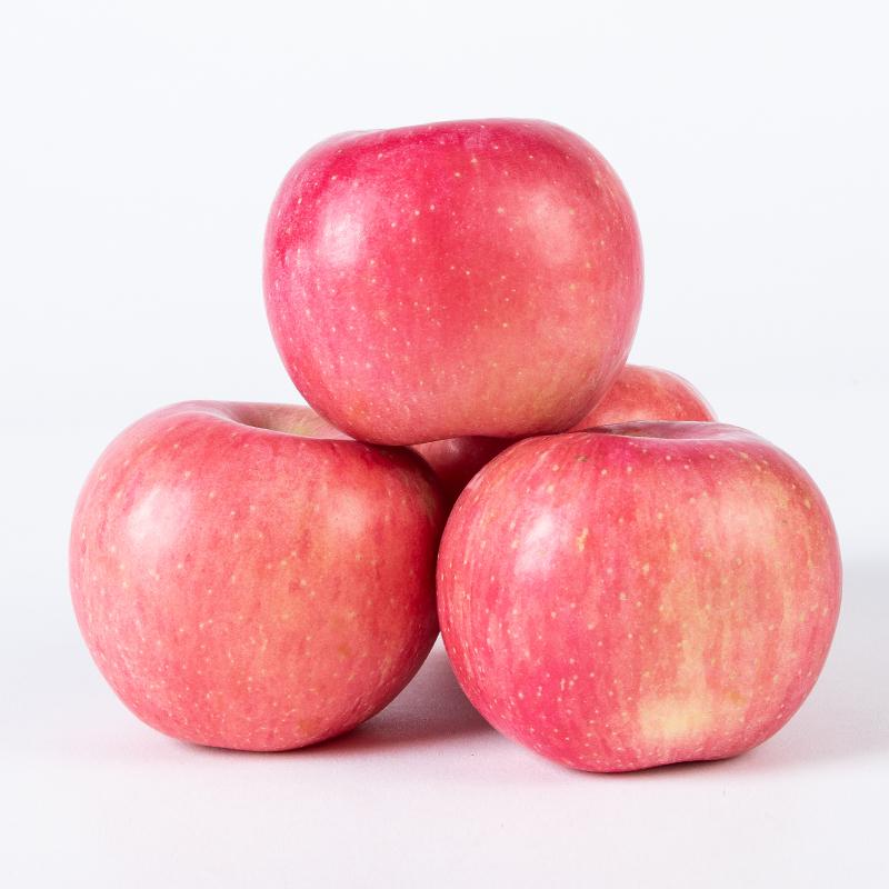 Yantai apple fruit fresh crisp sweet, Shandong Qixia Red Fuji 10 with box Jin package post wholesale whole box season