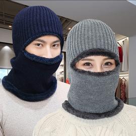 帽子男女冬天针织毛线套头加厚保暖骑车蒙面东北防风寒围脖护耳帽