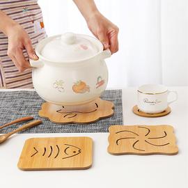 家用木质耐热餐垫隔热垫厨房餐桌垫防烫餐盘垫碗垫盘垫砂锅垫杯垫图片