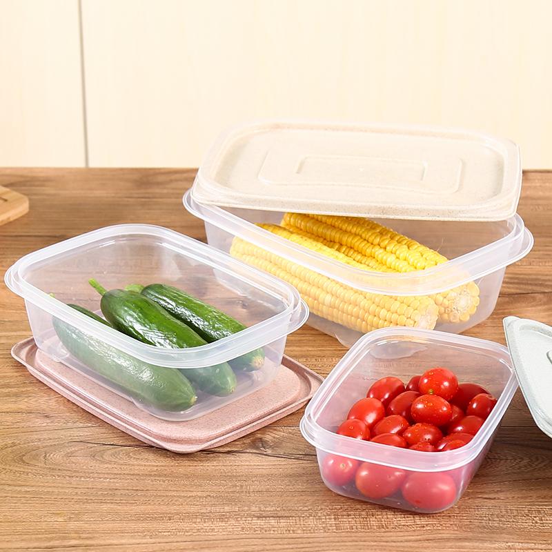 Три образца сохранение коробка прямоугольник крышка пластик легко картридж коробка для завтрака холодильник холодный тибет еда коробка печать коробка