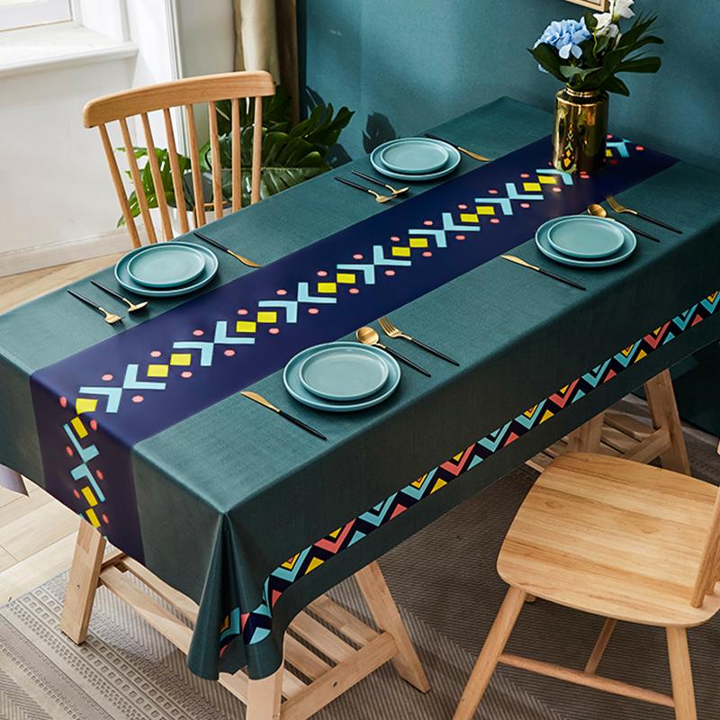 pvc防水防油防烫免洗长方形餐桌布好用吗
