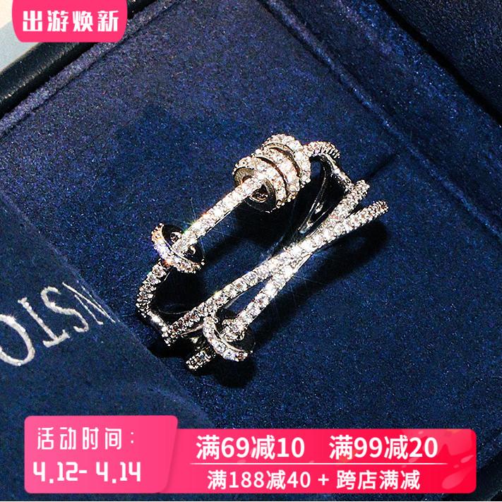 925纯银食指戒指女时尚个性ins潮轻奢小众精致设计感时来运转指环