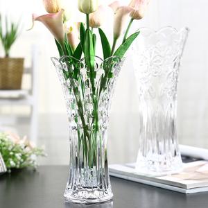 歐式大號玻璃透明花瓶 客廳擺件插花水培富貴竹百合干花落地飾品