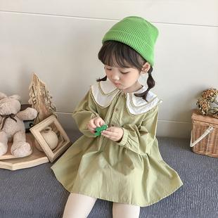 长袖2019秋季新款韩版洋气连衣裙