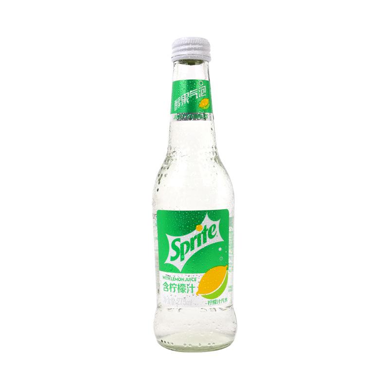可口可乐 雪碧醇果气泡柠檬汁玻璃装275ml/瓶