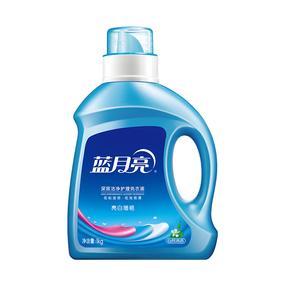 蓝月亮深层洁净护理洗衣液 亮白增艳 (自然清香)1kg/瓶