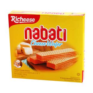 印尼进口丽芝士nabati纳宝帝奶酪威化饼干290g网红休闲茶点零食品牌