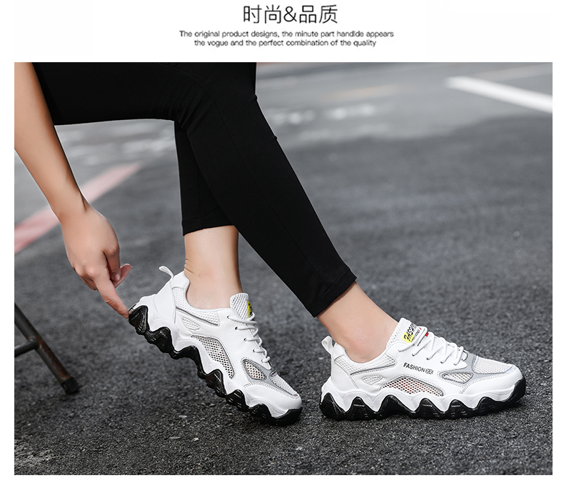 2020 new wealth Anta fashion breathable hollow out couple dad shoes lightweight and comfortable sports shoes for men and women