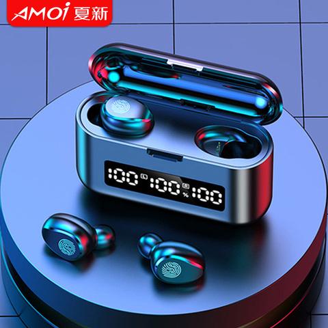 夏新真无线蓝牙耳机tws双耳2高音质高端降噪入耳式运动超长待机2021年新款男生女士适用华为苹果vivo小米oppo