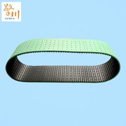 橡胶同步带表面加泡棉 PU发泡胶打孔 圆桶形纸管机贴标机传动皮带