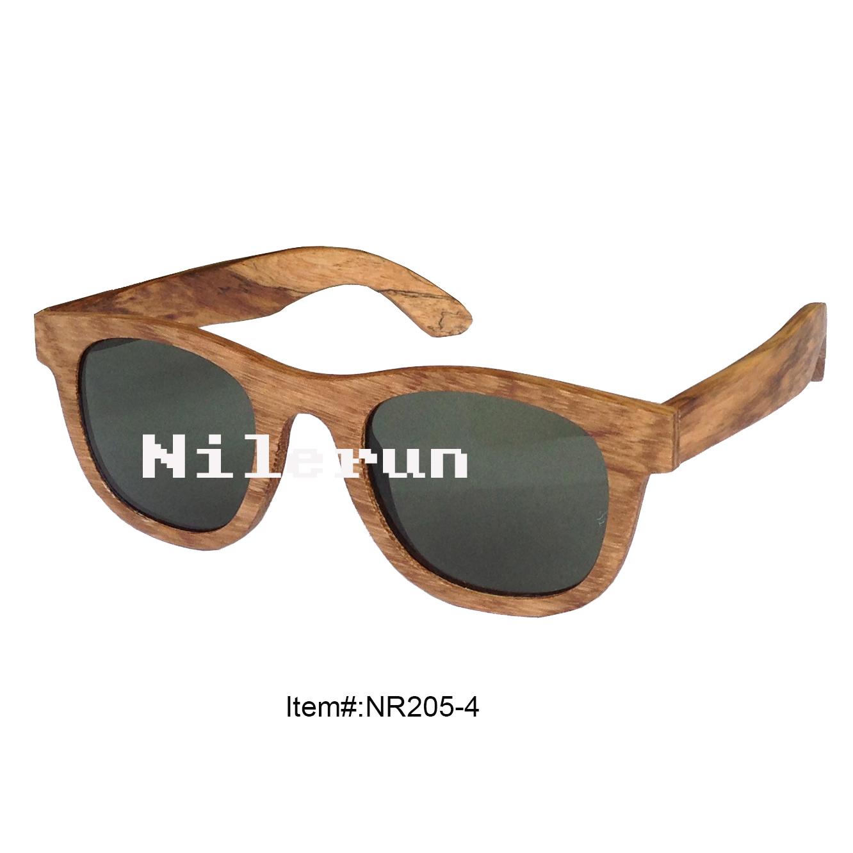 经典商务男女同款斑马木太阳眼镜 进口实木框偏光墨镜