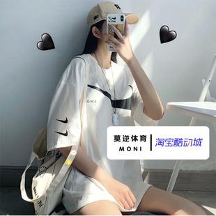 男女t恤CK2253 耐克20夏季 swoosh圆领运动双大小钩勾短袖 NIKE 新款