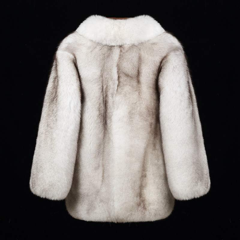 Fox fur grass coat mens medium and long full leather new winter thickened Haining fur integrated coat