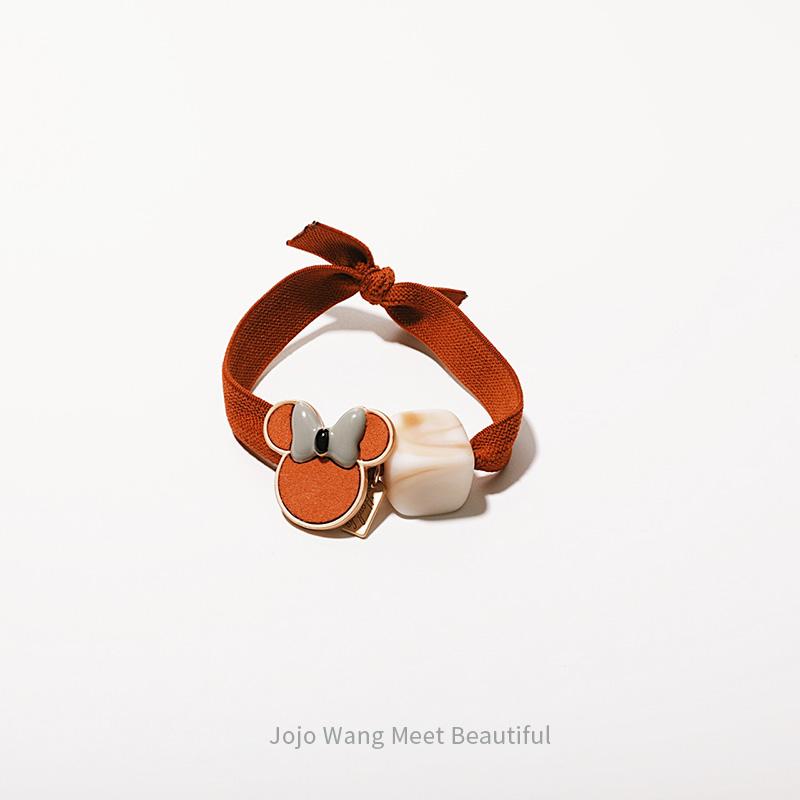 自留减龄!米妮秋冬系韩国随性少女高弹力皮筋扎头发头绳发圈ins