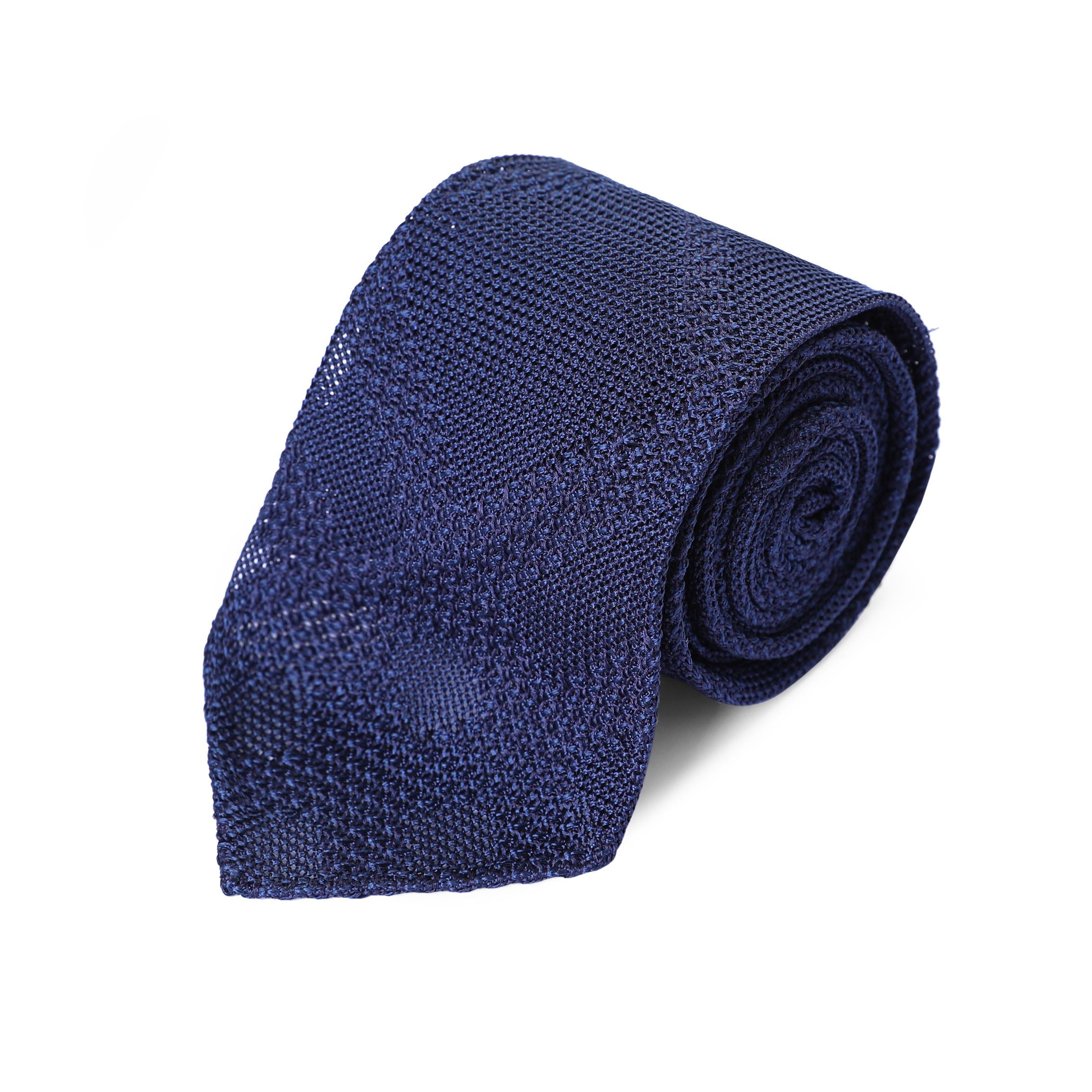 ilLupo西装配饰/男士正装商务  纯色针织款  意大利真丝手工领带