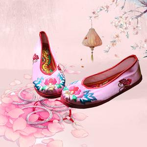 原创直销千层底布鞋绣花剪蝶民族风文艺范手工缝制平底单套鞋复古