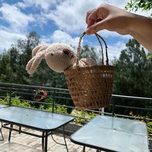 允儿妈女童宝宝2020可爱玩偶小篮子小兔子儿童凹造型饰品拍照道具