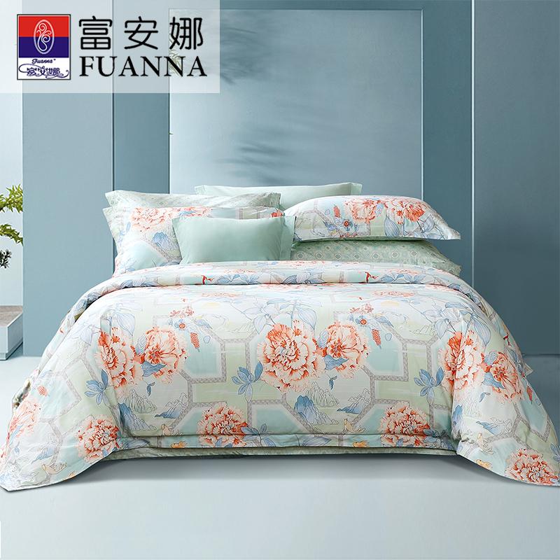 富安娜家纺长绒棉单件春夏纯棉被罩质量如何