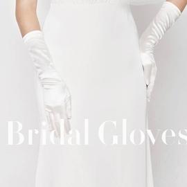 缎面全指新娘手套婚纱手套黑色红色礼服手套礼仪手套长款婚礼手套